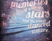 Salt-Faded Memories - paper print - inspirational beach word art