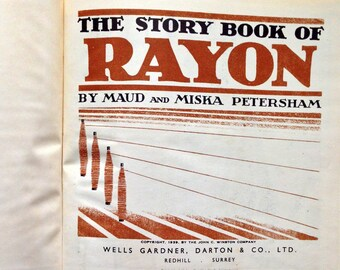 1939 The STORY BOOK of RAYON