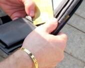 Mens Gold Cuff Bracelet / Personalized Gift for Men / Anniversary Gift for Husband / Gift for Him / Gold Bracelets / Mens Bracelets