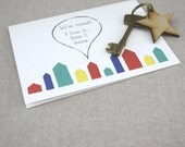 We have moved house note card. New Home notecards