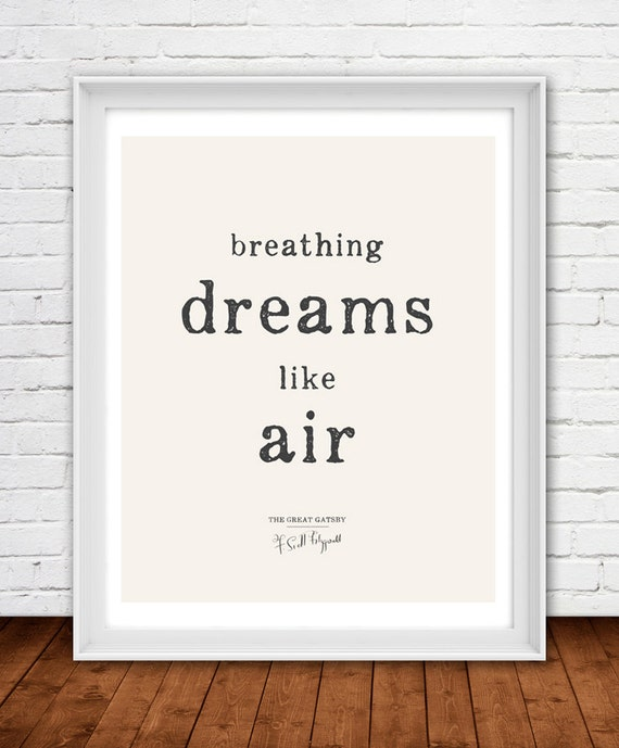 Breathing Dreams Like Air 16x20 On A2. Literary The By