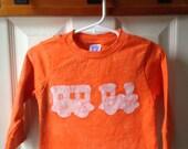 Kids Train Shirt (2T), Boys Train Shirt, Girls Train Shirt, Orange Train Shirt, Toddler Train Shirt
