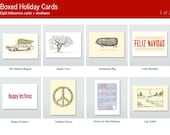 Letterpress Holiday Cards (Box set of 8) - Please choose your design
