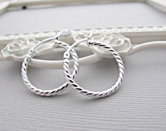 Silver Hoop EARRINGS, Sterling Silver Hoop Earrings, Silver Earrings