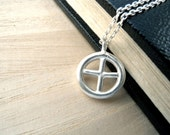 Sun Cross necklace sterling silver pendant - Unisex to mens style christian jewelry - Unique christmas gifts idea