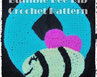 Bumble Bee  Bib Crochet Pattern - INSTANT DOWNLOAD