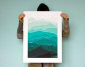2015 Mountain Calendar (Sea Green)