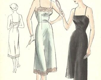 Vogue 7069 Vintage 50s Sewing Pattern // Lingerie Slip // Size 16 Bust 34