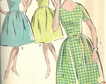Vintage 60s Sewing Pattern // Advance 2933 // Dress // Size 15 Bust 35
