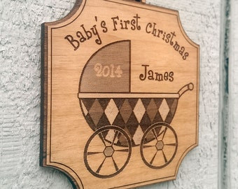 Personalized Baby's First Christmas Ornament Gift Christmas Ornament Name Date Babys Ornaments ...