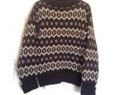 Vintage icelandic sweater, Wool Sweater, oversized knit