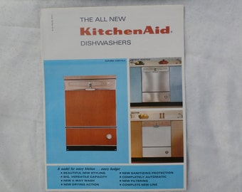 KitchenAid Dishwashers 1960s Advertising Brochure Kitchen Aid