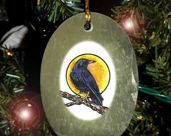 Crow Totem Animal Yule, Holiday, Christmas Ornament