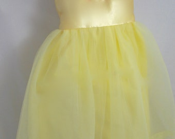 Belle Tutu Dress: yellow with red roses, beauty and the beast, princess dinner, parks trip, halloween costume, adjustable, birthday party