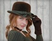 Brown Bowler Hat
