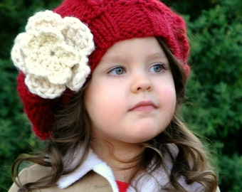 Knitting Pattern -The Monet Slouchy (Baby, Toddler, Child, Adult)