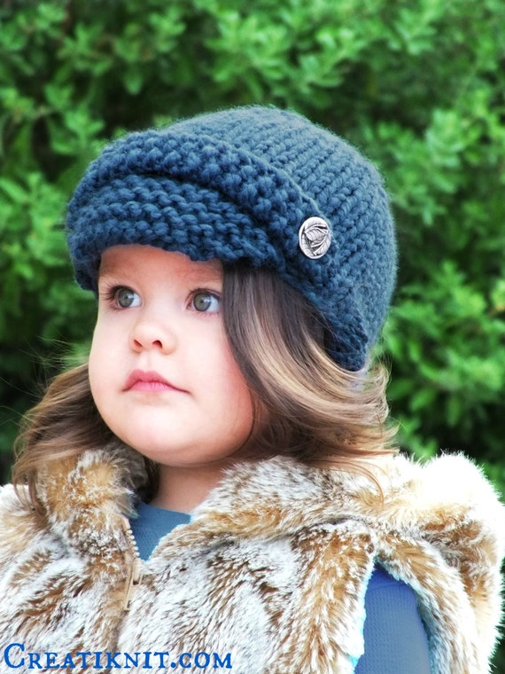 Knit Baby Newsboy Hat Pattern images