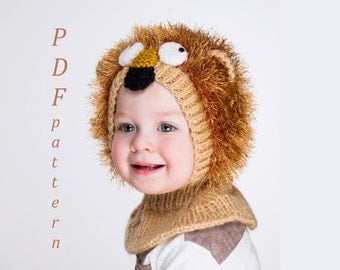 NEW PDF Lion Coverall Hat Knitting Pattern