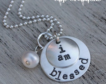 i am {personalized} necklace
