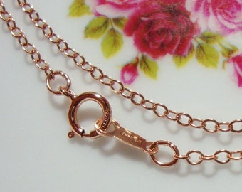 10% off, Bulk 10 pc, 18 Inches, 46cm, 14K Rose Gold Filled Finished Cable Chain with Spring Clasp, 2mm wide links
