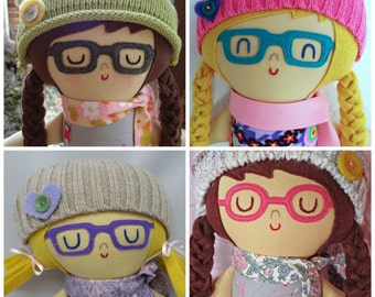 Warm Sugar Doll Glasses  eyeglasses for doll  customized doll accessories  glasses for custom doll  cloth doll