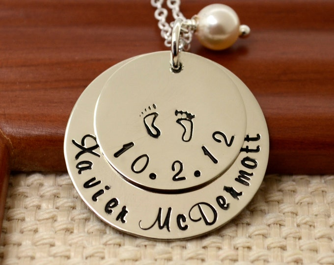 New Mother Gift, Expectant Mother Gift, Mothers Necklace, Jewelry Gifts for Mom, Mothers Day Birthstone Necklace, Necklace with Kids Names