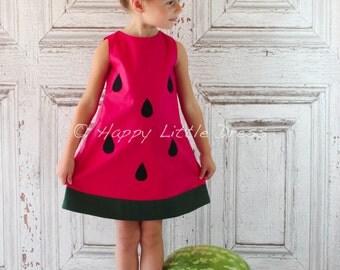 Girls Dress. Watermelon A Line Dress for Girls.