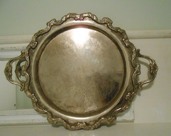 International Silver Company Tray, 22 inches, silver plate, vintage