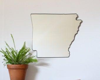 Arkansas State Mirror Wall Mirror Shape Outline Art Modern AR Little Rock Razorback