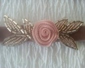 BRIDAL Garter Set Heirloom Wedding Keepsake and Toss Garter Pink or Blue