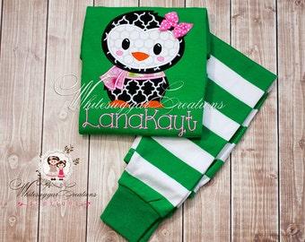 Christmas Pajamas for Boy or Girl  - Unisex Christmas Striped Pajamas - Custom Green Pajamas for Kids
