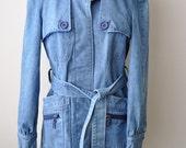 SALE Vintage 70's Ladies Jean Jacket by Jerold Jrs. sz. S/M