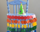 Rainbow High Chair Birthday Banner - vibrant colors for a celebration