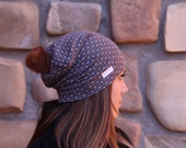 Slouch Beanie - Various sizes, Assorted prints, Available with or without fur pompom
