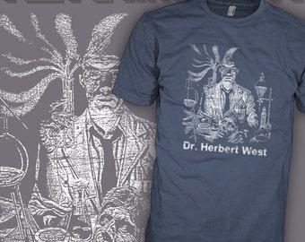 The ReAnimator Movie Shirt - HP Lovecraft Shirt - Necronomicon Author - Cthulhu Mythos Horror Movie T-Shirt