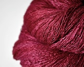 Overripe raspberry - Tussah Silk Lace Yarn