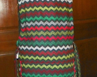 Kitchen Cobbler Lined Apron Smock Holiday Chevrons