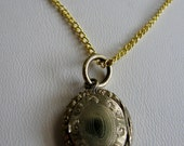 Georgian Mourning Locket Necklace with Hair