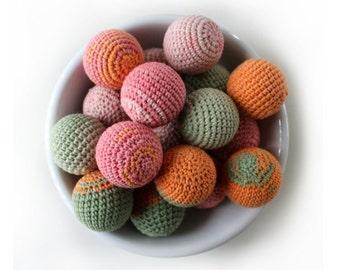 Crochet Balls - Ornament - Crochet Ball - Cat Toy - Crocheted Balls - Colorful Balls - Pet Toys- Baby Teething - Easter Egg - Easter Decor