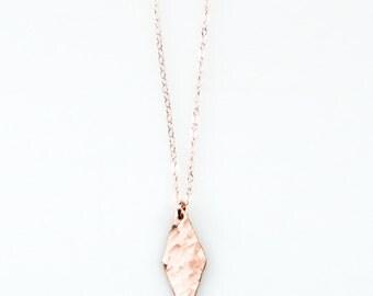 "Rose Gold Signature Joy Dravecky ""Logo"" Diamond Necklace - NG03 -R"