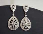SEASON SALE Bridal Earrings, Rhinestone earrings, Chandelier earring, Crystal chandelier earrings,Art deco earrings,Bridal accessories