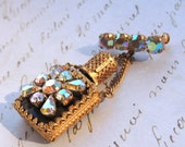 Austria Crystal Perfume Bottle Brooch Pin Vintage Jewelry