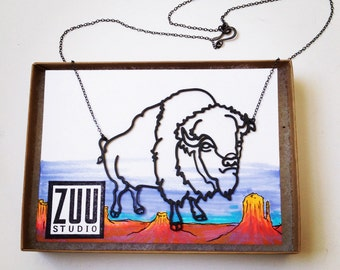 Bison Buffalo Necklace