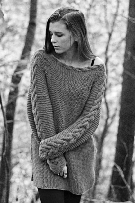 KNITTING PATTERN River Braid Sweater Fall by KatrineHDesigns