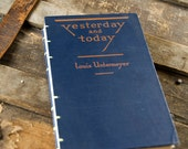 1926 YESTERDAY and TODAY Vintage Lined Journal