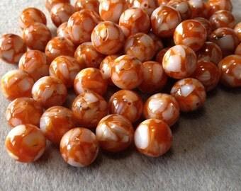 Orange Cream - Shell Resin Beads - 12mm - 12 beads
