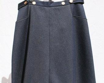 Vintage Faux Jean Wrap Around Skirt
