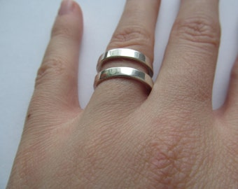 Multifunction ring sterling silver / adjustable / 925 / valentine gift
