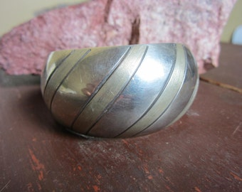 Wide Sterling Silver mexican Cuff Bracelet