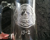 Extra Large Personalized Beer Mug - Hand Engraved with Message and drawing of your choice - 32 oz.